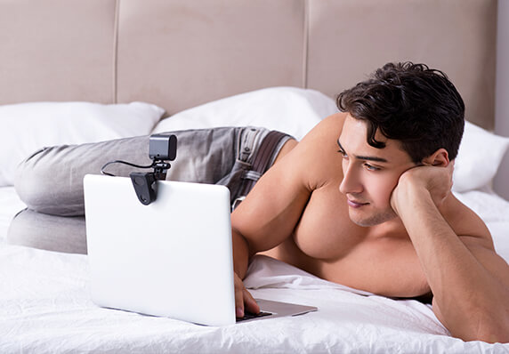 Naked Man With Notebook